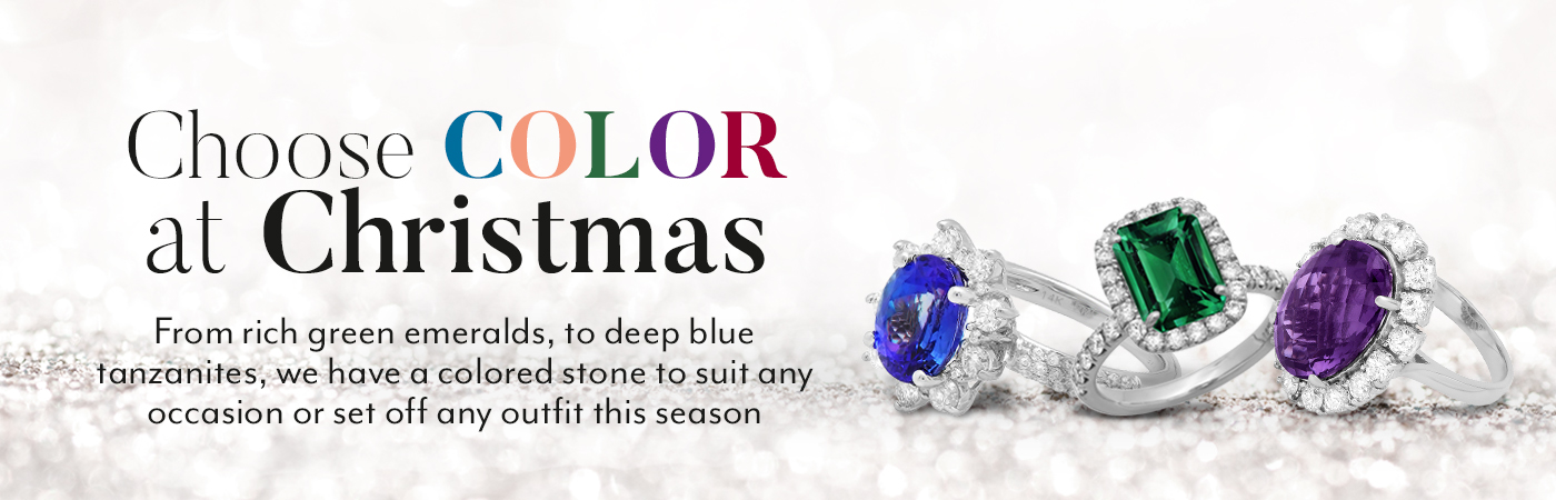 Color Gemstone Rings for Christmas