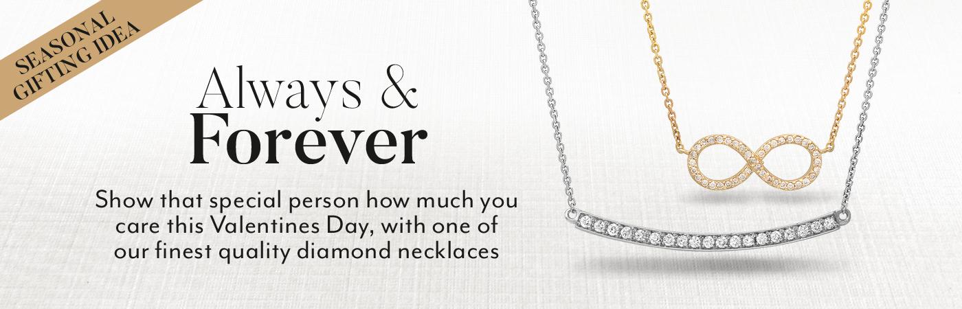 Diamond Necklace Anniversary Gift