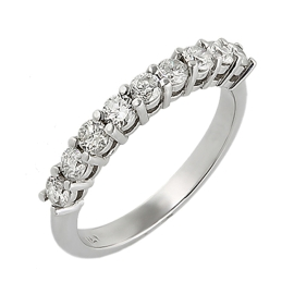 0.64ct  9 Diamond Ring on 14K White Gold