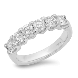 1.26ct Six Stone Diamond Ring on 14K Gold
