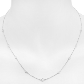 Diamonds by the Yard Necklace on White Gold