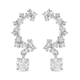 2.1ct Diamond Stud and Drop Earrings on White Gold