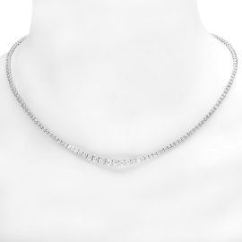 4.52 carat Diamond Tennis Necklace on 18K White Gold