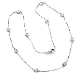 1.42ct Diamonds by the Yard Necklace on White Gold