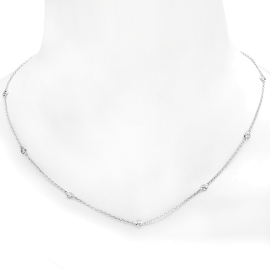 Diamonds by the Yard Necklace on 14K White Gold