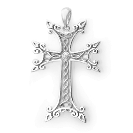 Ornate Armenian Gold Cross Necklace