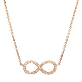 Diamond Infinity Necklace on 14K Rose Gold