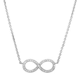 0.16ct Diamond Infinity Necklace on 14K White Gold