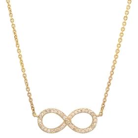 Diamond Infinity Necklace on 14K Yellow Gold