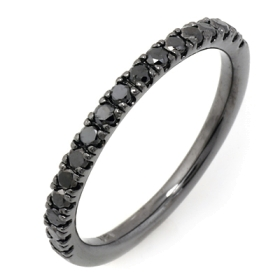 0.38 ct Black Diamond Ring on 14K Black Gold
