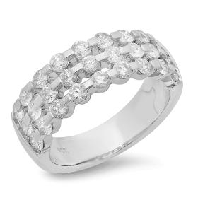 1.51 ct Diamond Trellis Ring on 14K White Gold