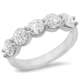1.98 ct 5 stone Diamond Ring on 14K Gold