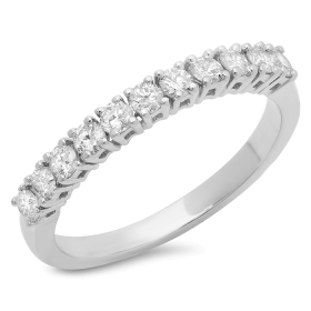 11 Stone 4 Prong Diamond Ring on 14K Gold