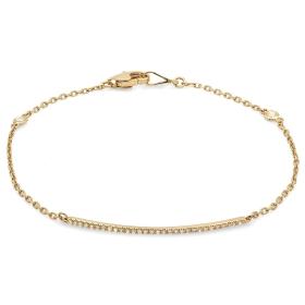 Diamond Bar Bracelet on 14K Yellow Gold
