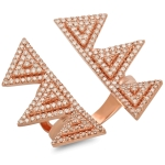 Angulo Diamond Fashion Ring on 14K Rose Gold