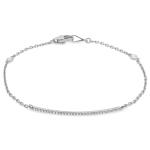 Diamond Bar Bracelet on 14K White Gold