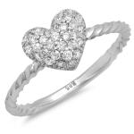 Shape of My Heart Diamond Ring on 14K White Gold