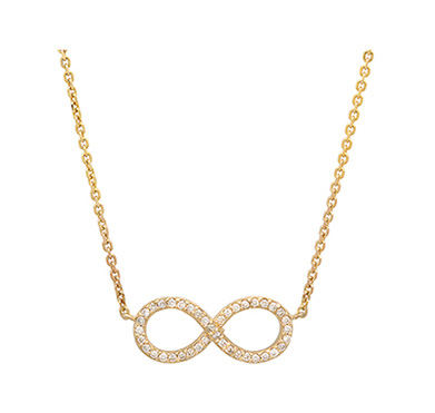 Diamond Infinity Necklace on 14K White Gold