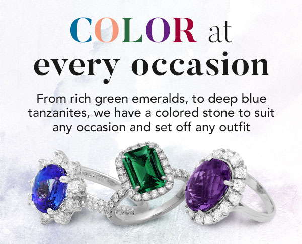 Colored Gemstone Rings
