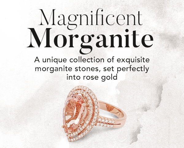 Morganite & Diamond Ring on White Gold