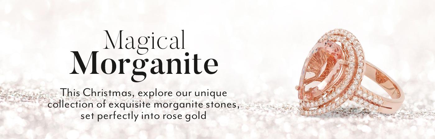 Morganite & Diamond Christmas Rings